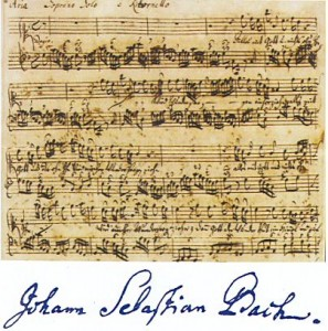 Original Score of Johann Sebastian Bach