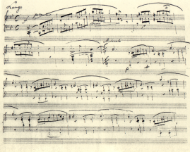 Chopin Ballade Manuscript Opus 23 g minor